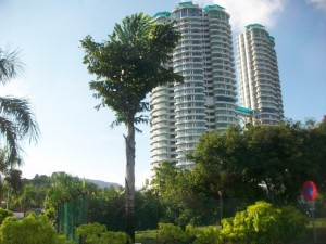 Beachfront condos in Penang.
