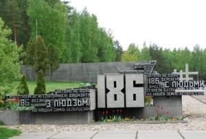 186 Belarusian settlements were burnt during World War II and never restored