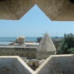 Caspian Sea seen from the Palace of the Shirvanshahs.