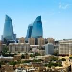 Modern cityscape of Baku, Azerbaijan