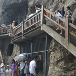 The Longmen Grottoes near Luoyang.