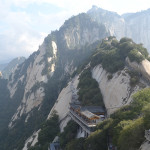 "Mt Huashan, the ""Flower Mountain"" of China."