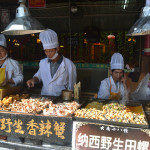 Food stall in Lijiang, China.