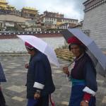 Locals near Songzanlin Monastery.