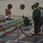 Memorial tribute at Volgograd.