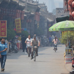 Streets of Pingyao, an ancient city of China.
