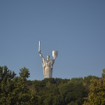 """The Motherland Calls"" statue in Kiev."