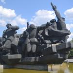 Memorial statue in Kiev.
