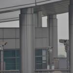 Security cameras at the DMZ, in North Korea.