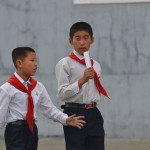 Children in Pyongyang, North Korea.