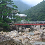 Bridge in Mt Kumgang region, in North Korea.