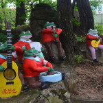 Frog musicians in Mt Kumgang region.
