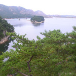 Samil lagoon, in Mt Kumgang region, North Korea.
