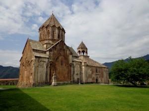 The Gandzasar Monastery outside of Stepanakert.