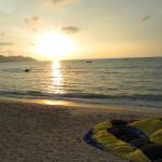 Sunset at Batu Ferringhi beach, Penang.