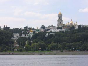 Pechersk Lavra seen from the Dnepr river
