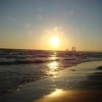 Sunset on the Caspian Sea