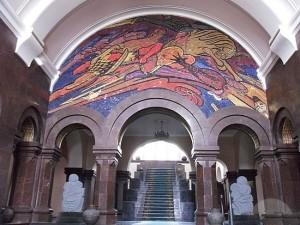 Inside of the Matenadaran Museum in Yerevan