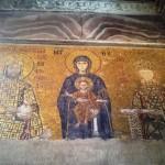 12th century mosaic panel at Hagia Sophia