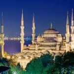 Exterior of the Hagia Sophia at night