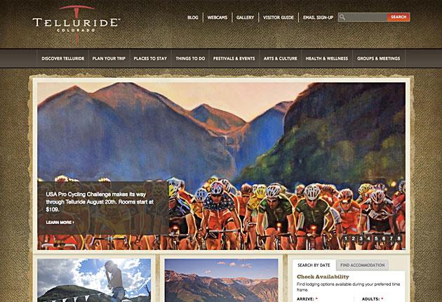 Website for Telluride, Colorado.
