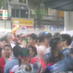 Streets of Bangkok during Songkran.
