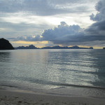 Early sunset at Corong-Corong, near El Nido
