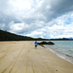 It's a long walk down Nacpan beach :)