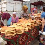 Traditional Kyrgyz bread at the marketplace