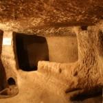 Underground cave cities in Cappadocia.