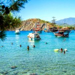 Beautiful waters of Antalya, Turkey.