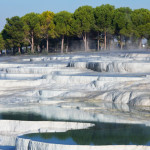 Travertines of Pamukkale, Turkey.