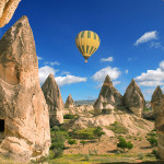 Hot air balloon at Cappadocia, Turkey.
