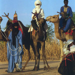 Group of Tuareg on camel