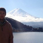 Johnny Ward at Mount Fuji, Japan