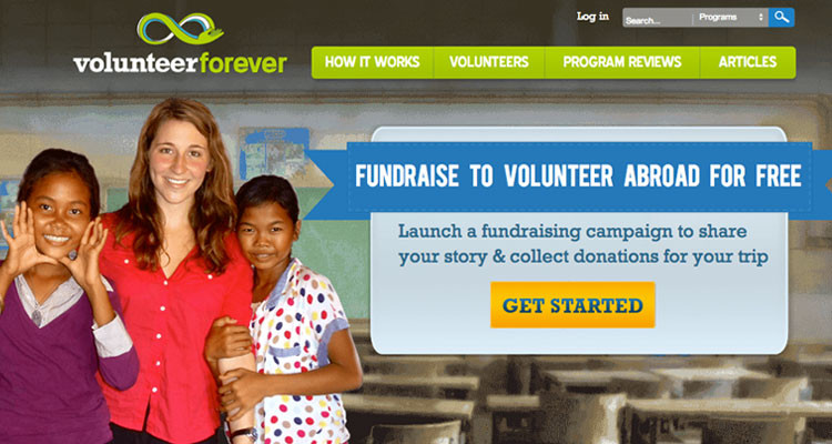 Volunteer Forever, a crowdfunding website for volunteers.