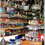 Bodrum, Turkey - bazaar lamps.