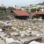 Remains of the Mausoleum at Halicarnassus in Bodrum.