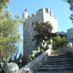 Stone walkways of St Peter's Castle, Bodrum.