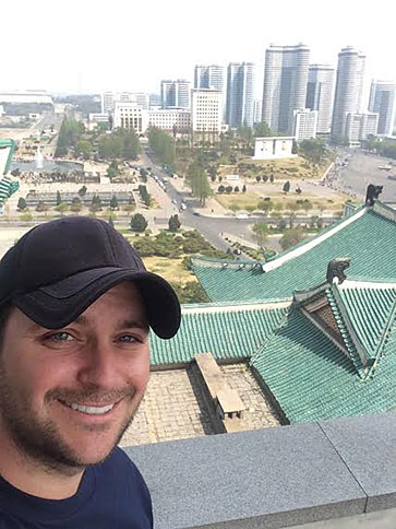 Ryan Trapp in Pyongyang, North Korea.