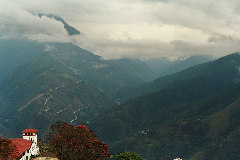 Yungas Highway from Coroico. Photo by Claire Pouteau