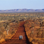 Driving in the Kimberley in Western Australia.