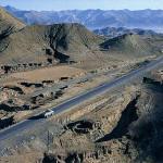 Friendship highway between Tibet and Nepal.
