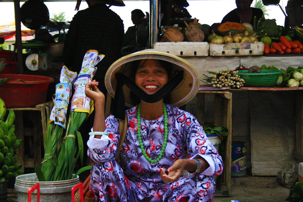 Vietnamese street vendor.