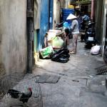 Back alleys in Pham Ngu Lao, Vietnam.