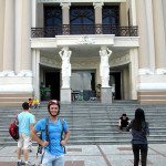 Standing outside the Saigon Opera House.