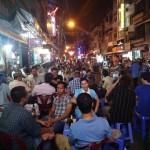 Street scene in Bui Vien, Ho Chi Minh City, Vietnam.