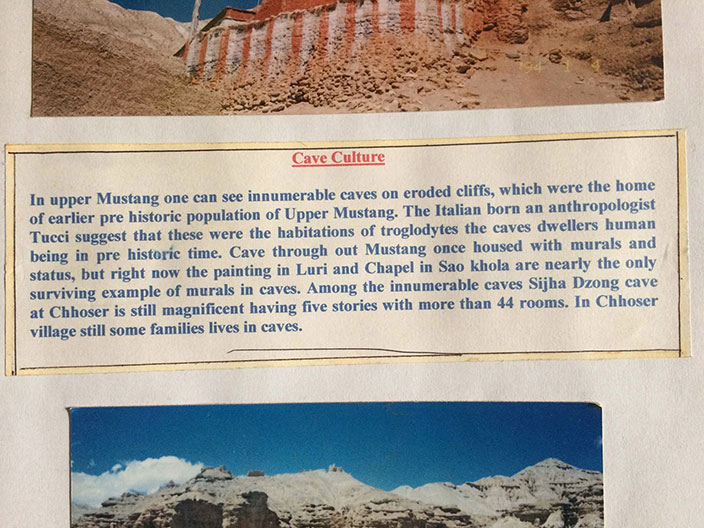 Cave culture of Mustang, TIbet