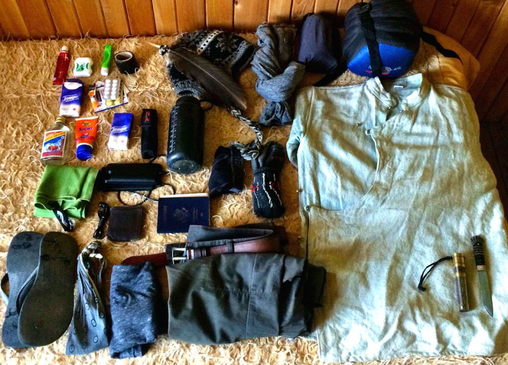 My travel gear in Tibet.