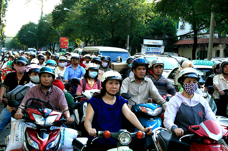 Typical traffic scene in Saigon.